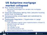 us subprime mortgage market collapsed
