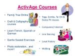 activage courses