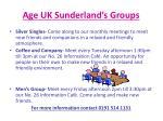 age uk sunderland s groups