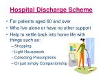 hospital discharge scheme