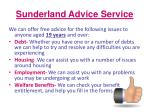 sunderland advice service