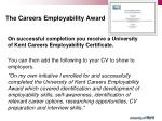 the careers employability award