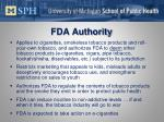 fda authority
