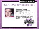 ulu vice president daniel cooper