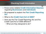 checking credit information