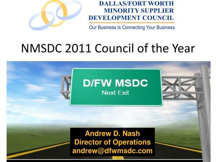 nmsdc 2011 council of the year n.
