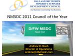 nmsdc 2011 council of the year