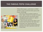 the famous pepsi challenge