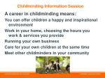 childminding information session1