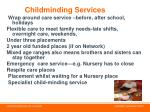 childminding services