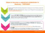 steps to become a registered childminder in hackney pathway