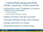 a diversified e nergy portfolio flexible sustainable fiscally r esponsible