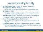 award winning faculty