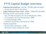 fy15 capital budget overview1