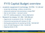 fy15 capital budget overview2