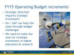 fy15 operating budget increments