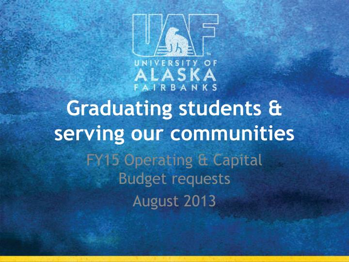 graduating students serving our communities n.