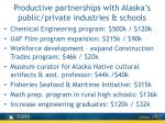 productive partnerships with alaska s public private industries schools