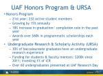 uaf honors program ursa