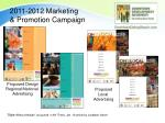 2011 2012 marketing promotion campaign