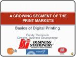 basics of digital printing randy thompson director business development