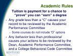 academic rules