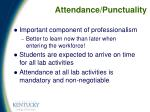 attendance punctuality