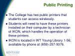 public printing