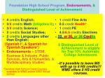foundation high school program endorsements distinguished level of achievement