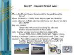 may 8 th hayward airport event