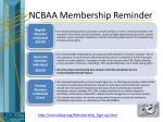 ncbaa membership reminder