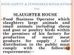 food safety standards regulations 20111