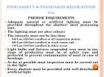 food safety standards regulations 201110