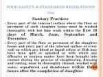 food safety standards regulations 201111