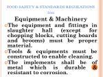 food safety standards regulations 201115