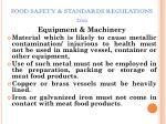 food safety standards regulations 201116