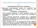 food safety standards regulations 201119