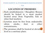 food safety standards regulations 20112