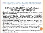 food safety standards regulations 201120
