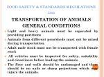 food safety standards regulations 201122