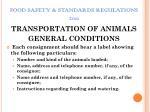 food safety standards regulations 201125