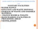 food safety standards regulations 201159