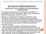 food safety standards regulations 201162