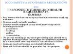 food safety standards regulations 201165