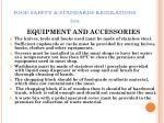 food safety standards regulations 201175