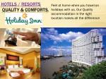 hotels resorts quality comforts