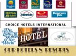 our hotels n resorts