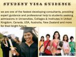 student visa guidence