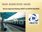 train reservation online