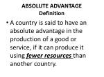 absolute advantage definition